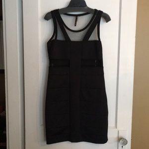 G&I USA Black Dress w/ Mesh peek through detail